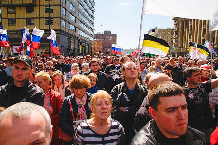 Московская полиция задержала семерых занарушение порядка наБолотной площади